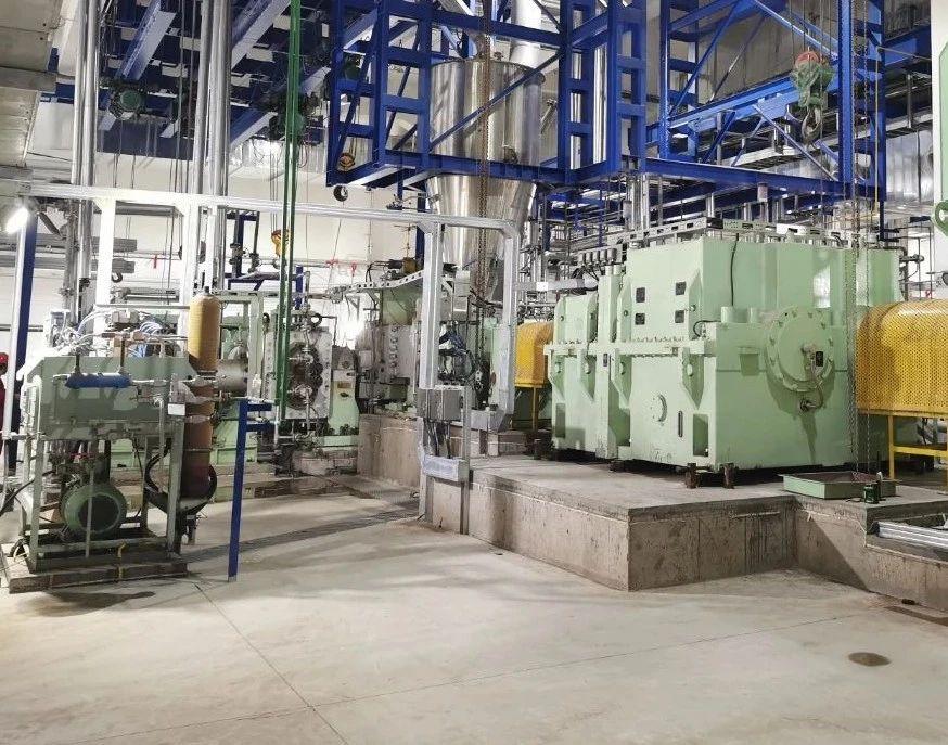 来自客户现场的消息  两台20万吨/年大型挤压造粒机组在鲁清石化顺利投产