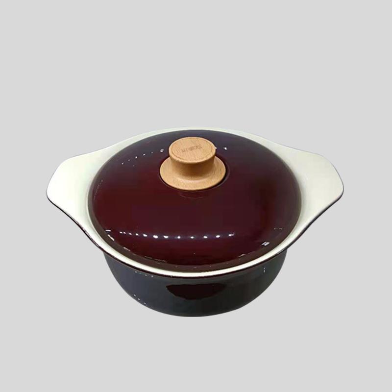 珐琅瓷元宝汤锅