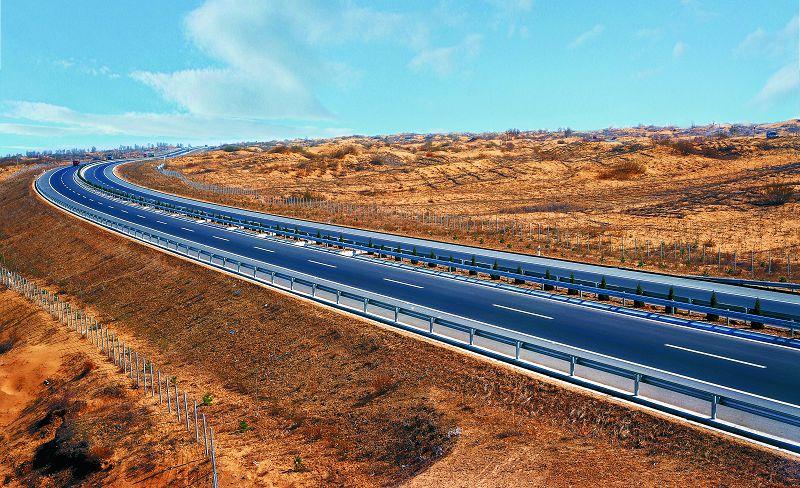 榆林至靖邊沙漠高速公路