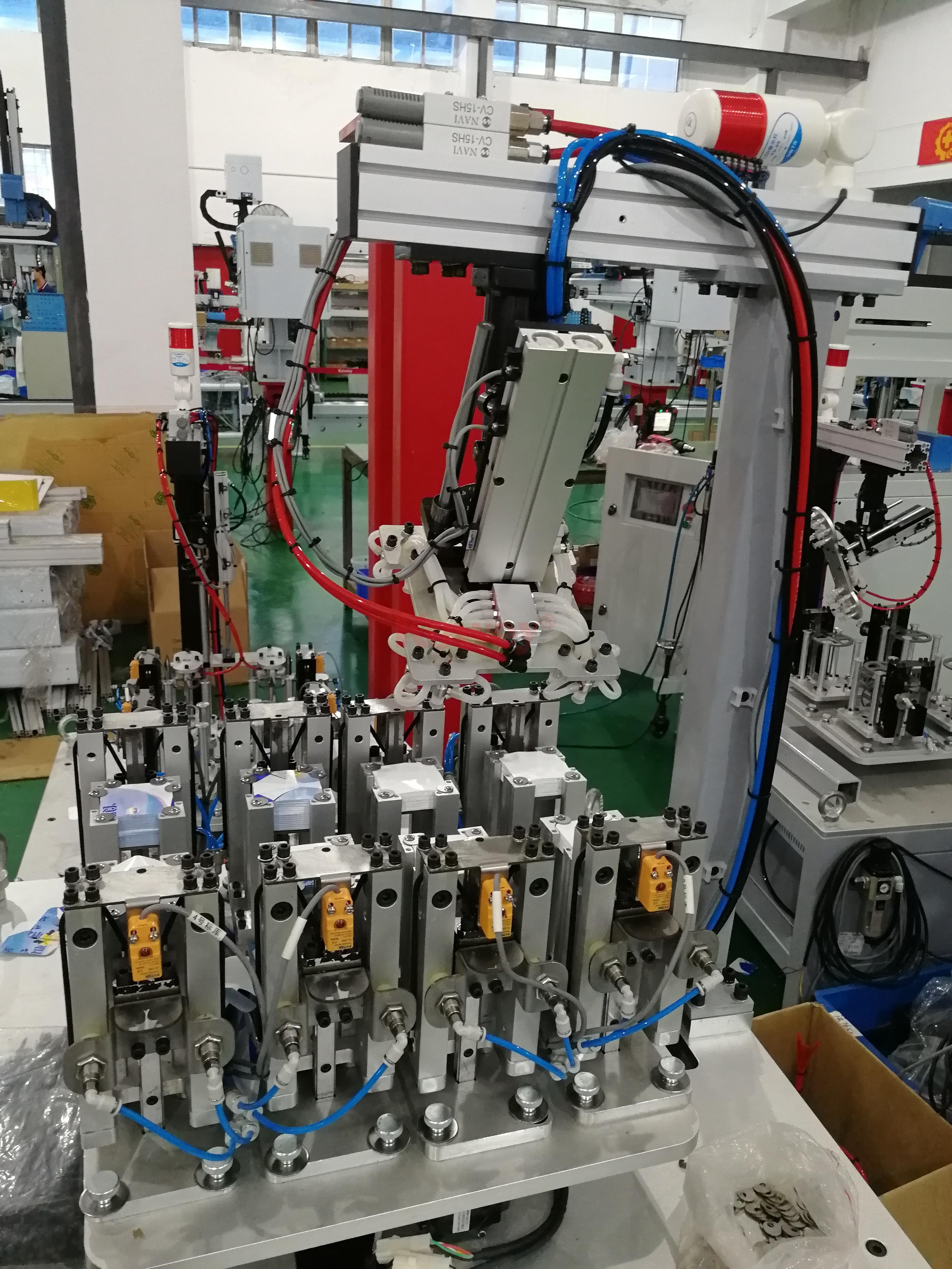 機械手治具-注塑自動化-頂入式模內貼供標治具-機械手治具定制