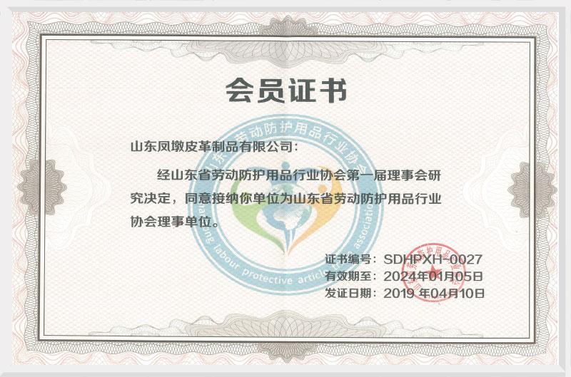 山东劳动防护用品行业理事单位