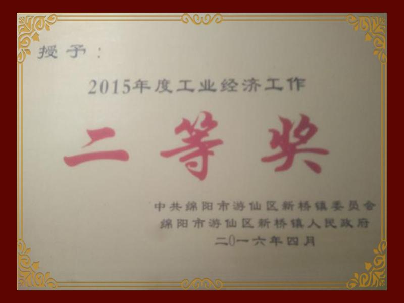 2015年度工業經濟工作二等獎