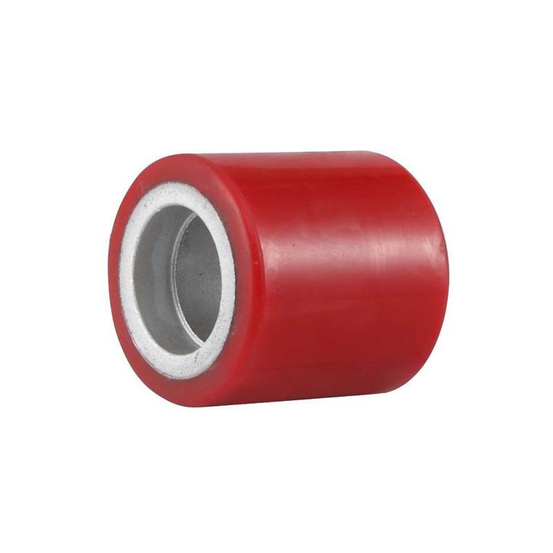 ET4系列-鐵芯聚氨酯叉車輪(紅色)(平邊)(不配軸承)