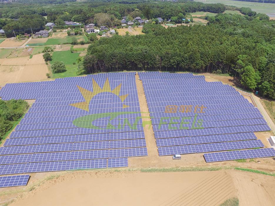 地面鋁合金太陽能支架型材安裝案例 韓國 1.87MW