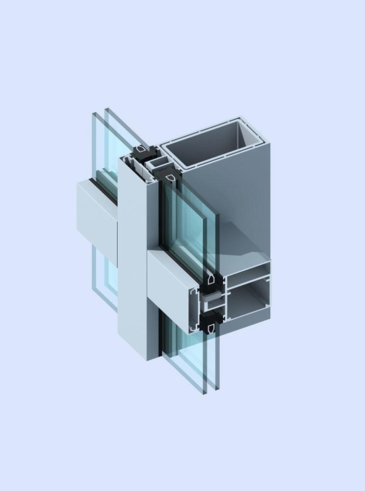 GR120A系列幕墻-建筑型材