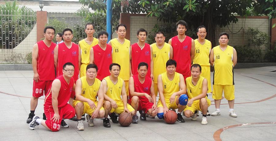 公司与客户的篮球友谊赛