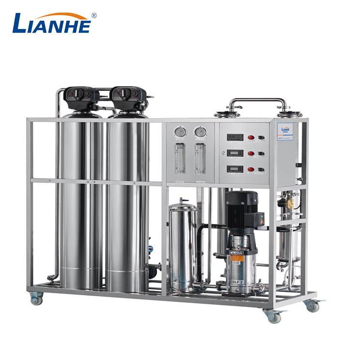 500L/h一级反渗透水处理(不锈钢双柱,自动阀)