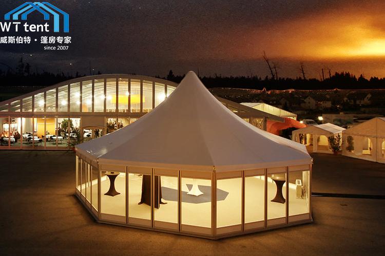 蘇州威斯伯特多邊形篷房租賃六邊形戶外酒店帳篷效果價格展示