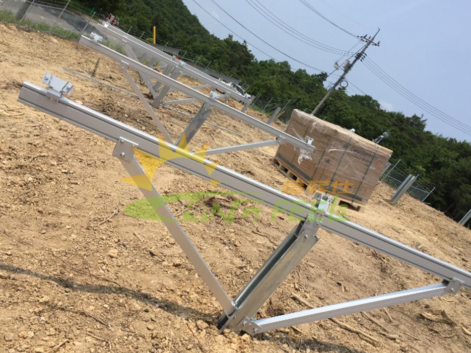 太陽能打樁式地面支架系統