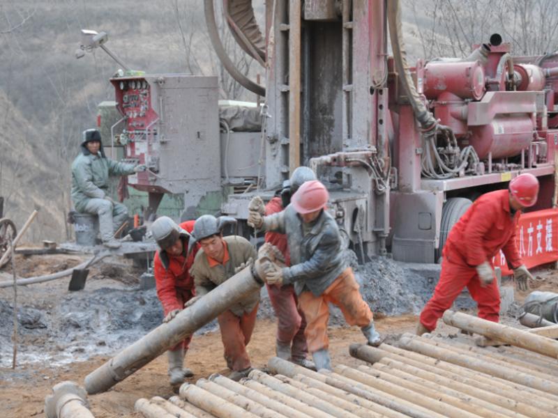 山西王家嶺煤礦透水事故救援現場