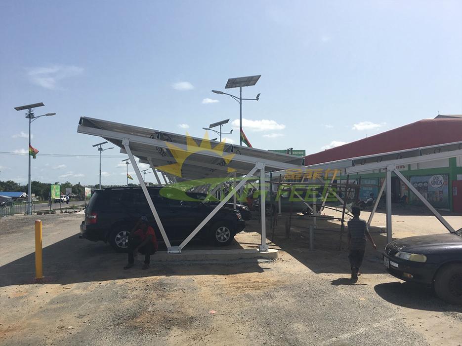 光伏發電支架太陽能車棚支架