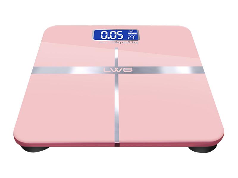 电池粉红十字体重秤