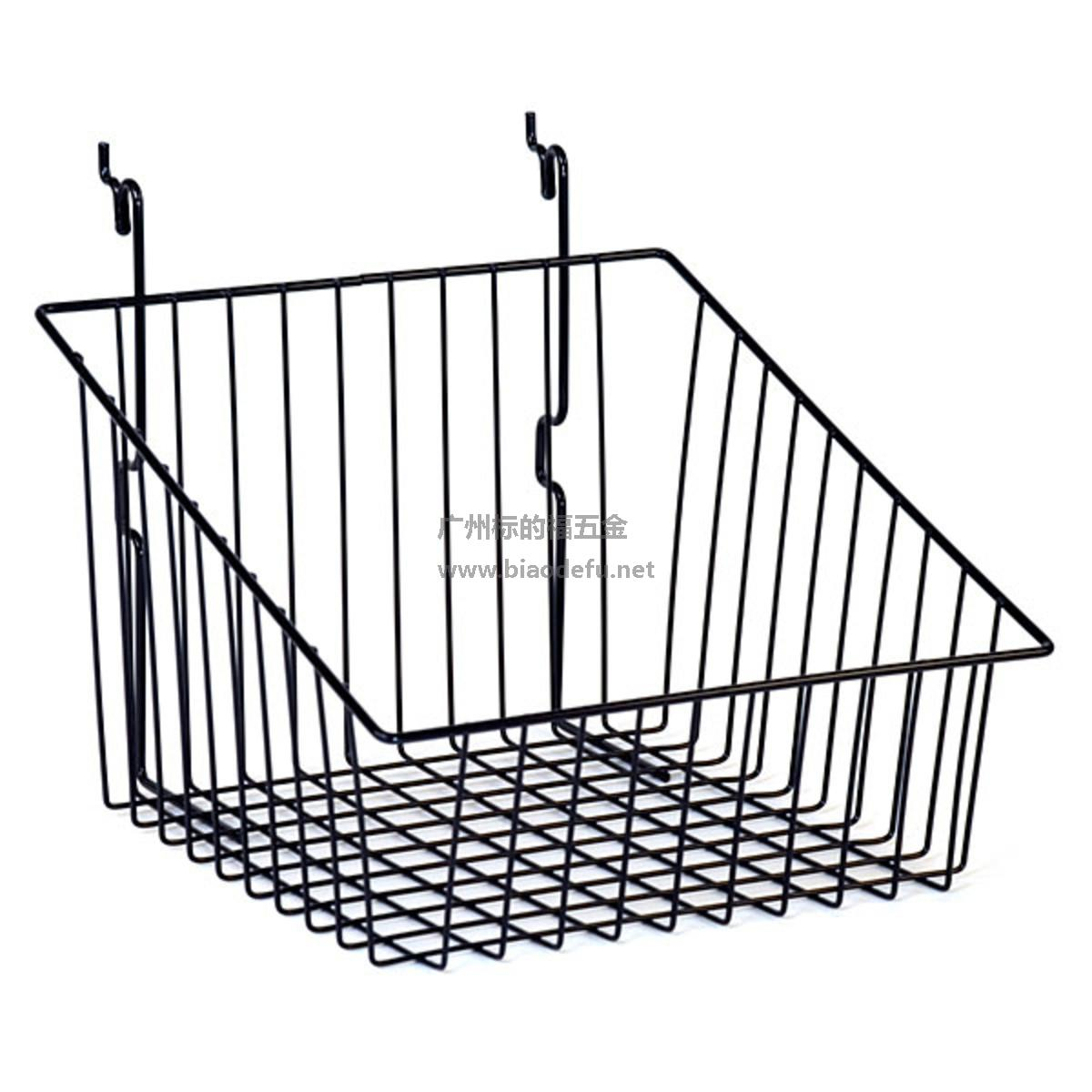 金属黑色斜口网篮