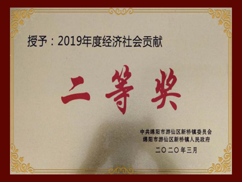 2019年度經濟社會貢獻二等獎