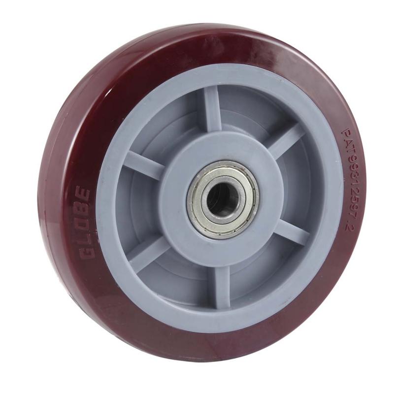 ES1系列-高強度尼龍單輪,超級聚氨酯單輪,鐵芯聚氨酯單輪,鑄鐵車輪