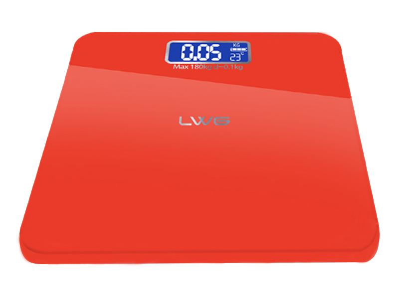 电池简约红体重秤