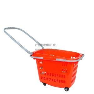 30L超市购物拖篮带轮子