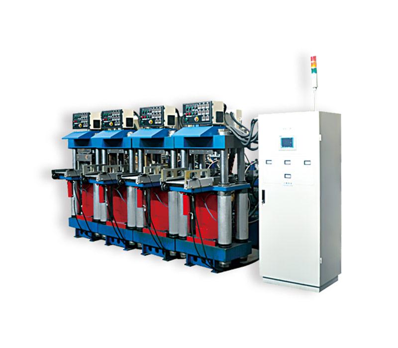 JF640(200T×4)对顶模四工位热压机