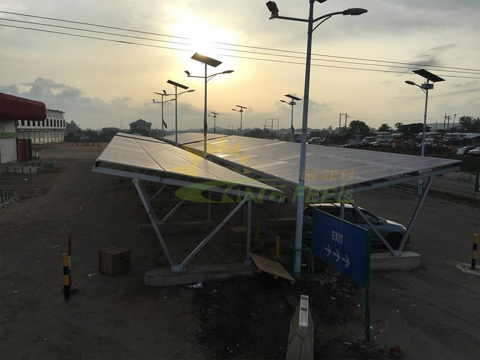 車棚鋁合金太陽能支架系統