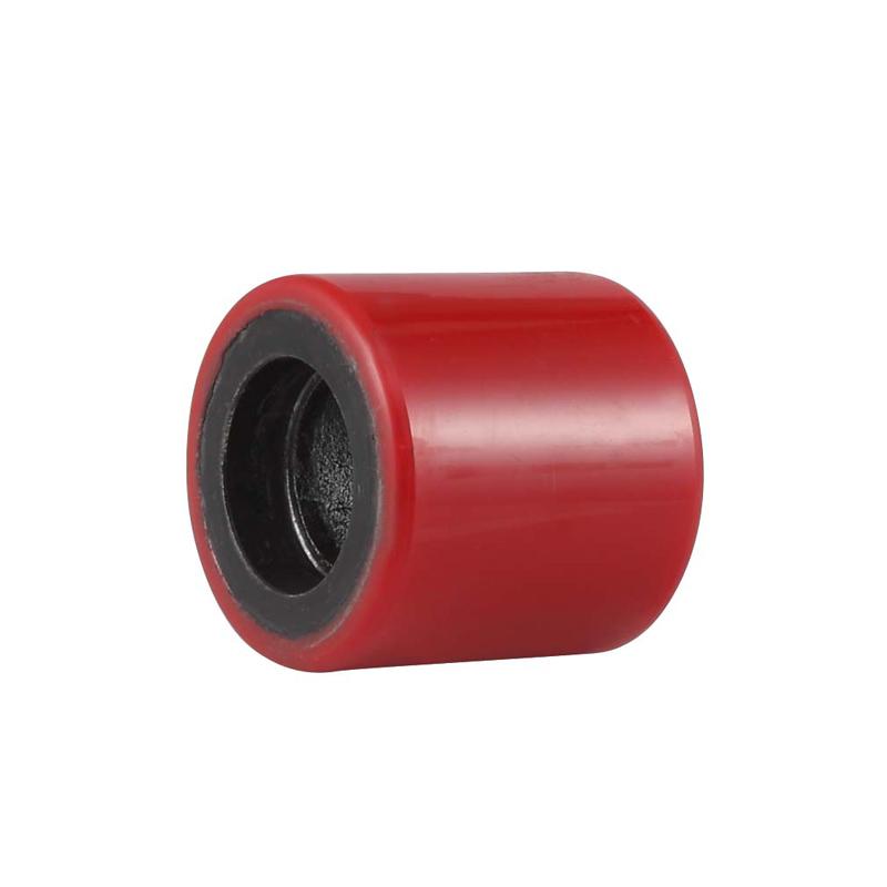 ET8系列- 鐵芯聚氨酯叉車輪(紅色)(平邊)(不配軸承)