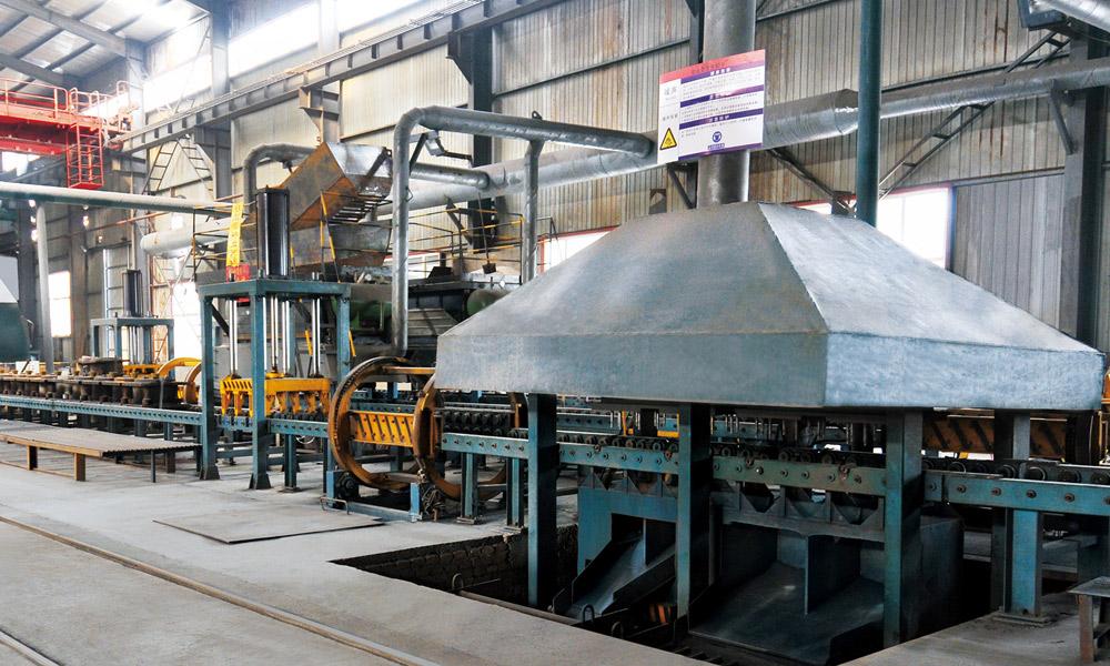 鐵型覆砂生產線