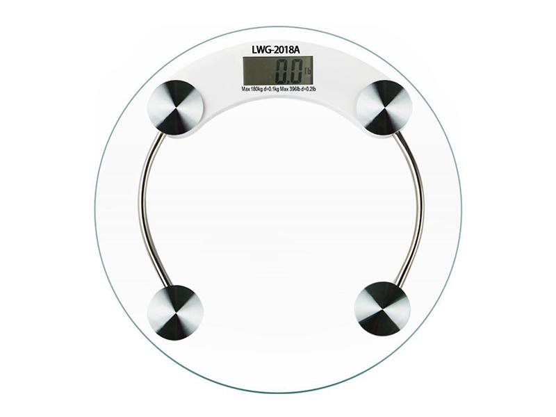 电池圆形体重秤