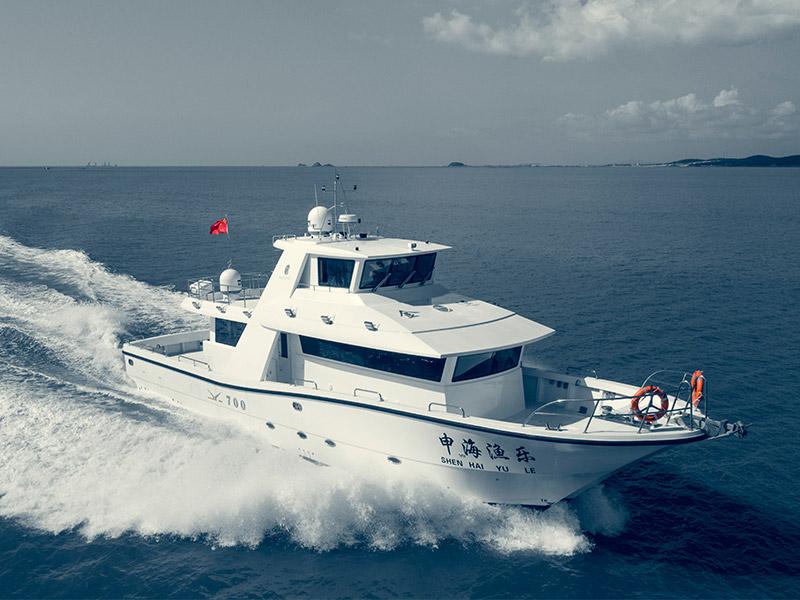 JY700C 高速遠海游釣艇
