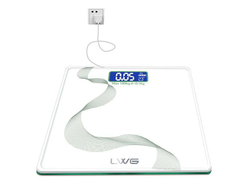 充电丝蕴绿亮白体重秤