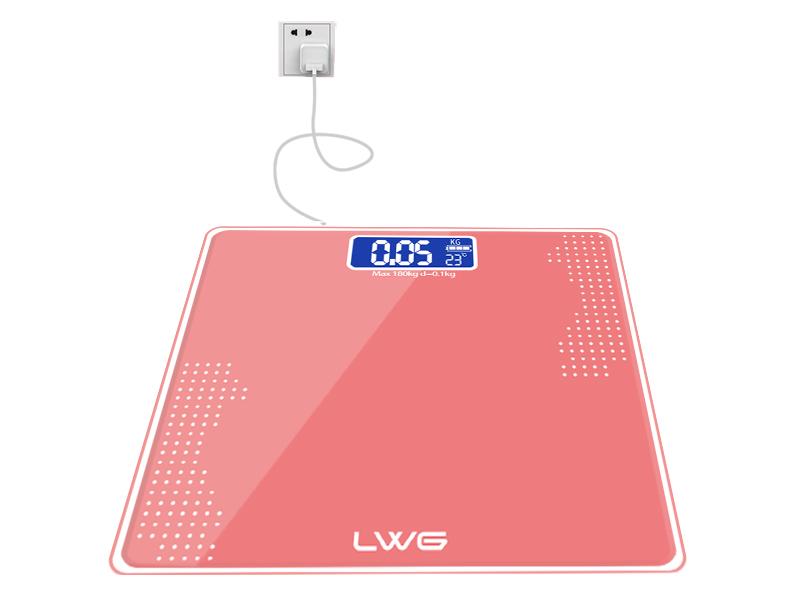 充电砖红白点体重秤