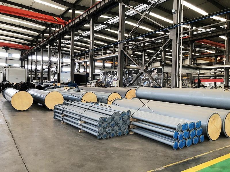 公司碳化硅襯膠管道發貨中