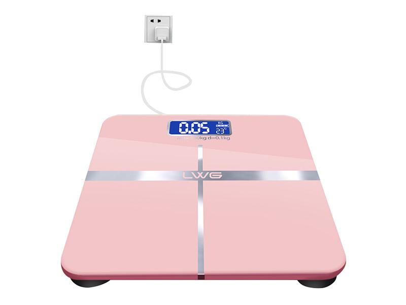 充电粉红十字体重秤