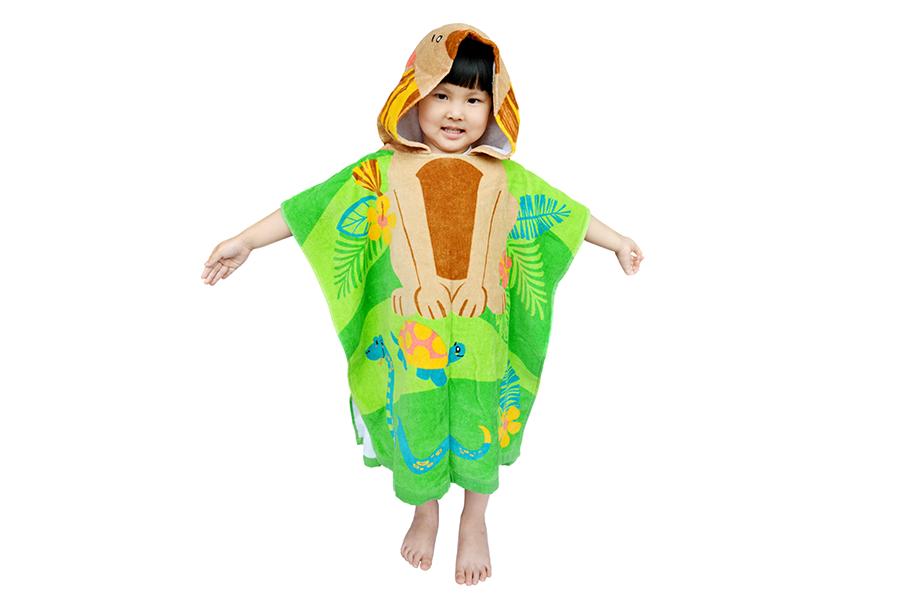 儿童连帽浴巾