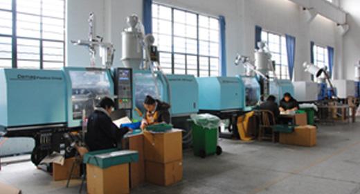工廠配備了世界一流品牌的注塑機