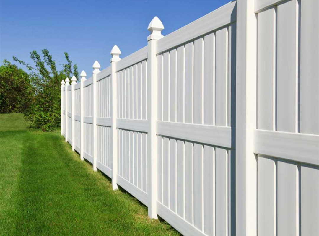 PVC Semi-Privacy Fence