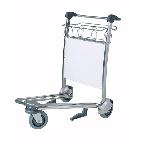 不锈钢三轮机场行李手推车