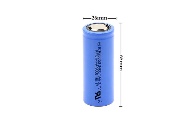 BFN 高放电倍率高容量电池 26650 3400mAh 3.7V