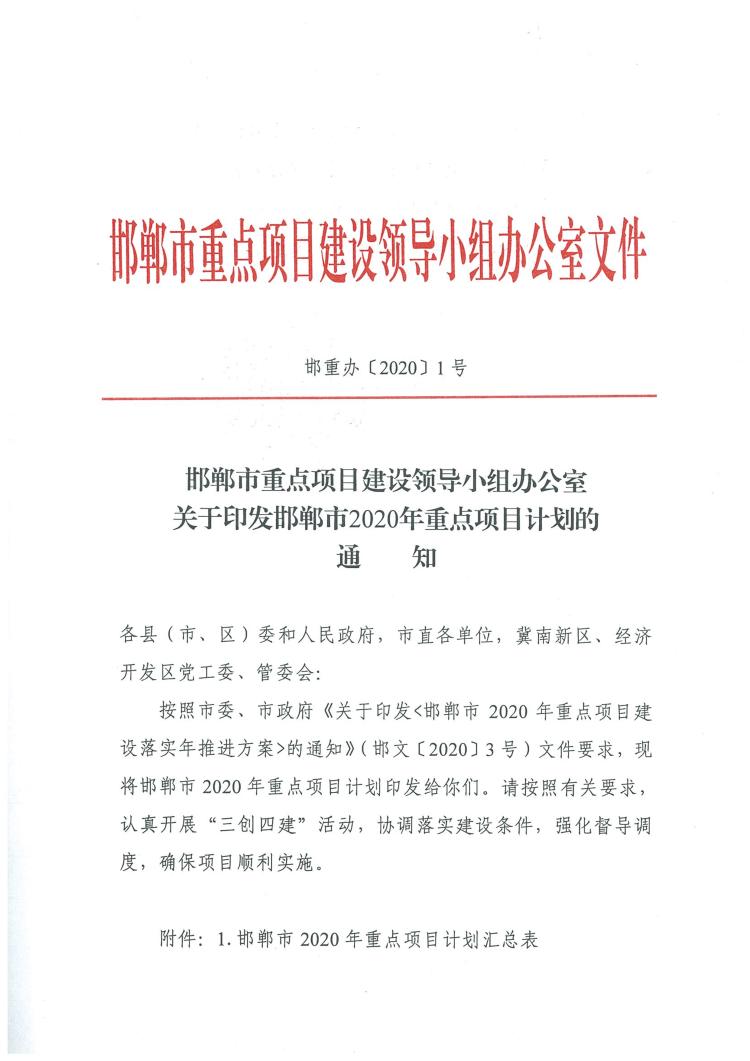 熱列慶祝我公司氨甲苯酸項目列入邯鄲市2020年重點項目計劃